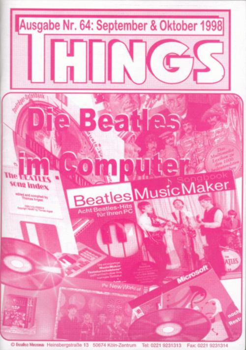BEATLES: Fan-Magazin THINGS 64