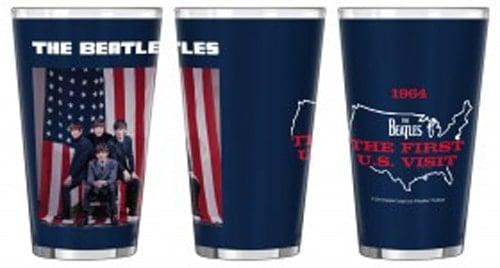 großes BEATLES-Trinkglas THE FIRST U.S. VISIT aus USA