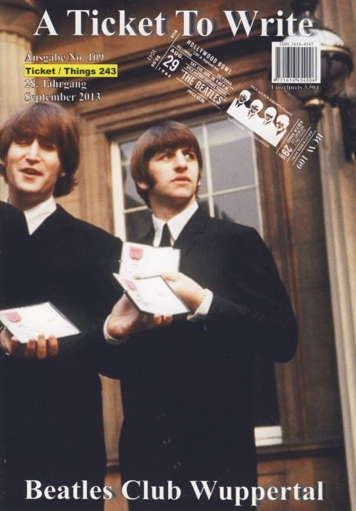 BEATLES: Fan-Magazin A TICKET TO WRITE 109
