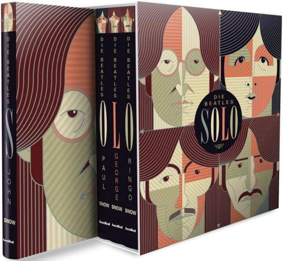 Vier Bücher in Box DIE BEATLES SOLO