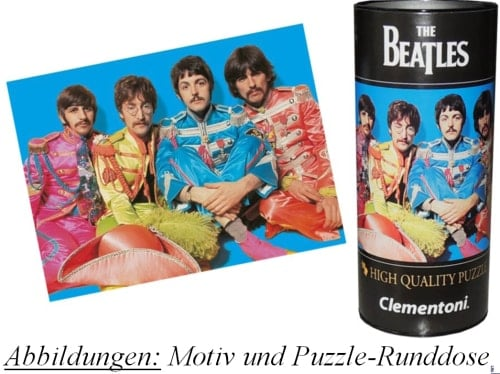 BEATLES-Puzzle in Runddose SGT. PEPPER INNER SLEEVE PHOTO