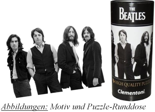Puzzle in Runddose BEATLES PHOTO SESSION APRIL 1969