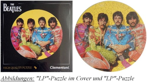 BEATLES-Puzzle in LP-Form SGT. PEPPER INNER SLEEVE PHOTO