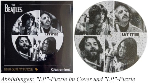 BEATLES-Puzzle in LP-Form LET IT BE