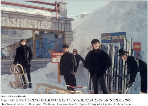Foto DURING FILMING HELP! IN OBERTAUERN, AUSTRIA, 1965