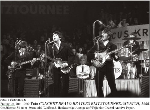 Foto CONCERT BRAVO BEATLES BLITZ TOURNEE, MUNICH, GERMANY, 1966