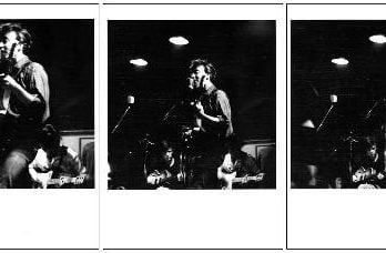 3er BEATLES-Foto-Set JOHN LENNON WITH STUART SUTCLIFFE AND GEORG