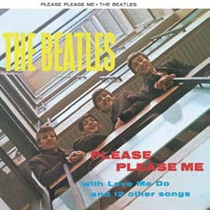 BEATLES-Blechschild ALBUM COVER PLEASE, PLEASE ME