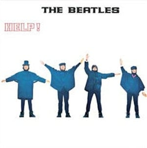 BEATLES-Blechschild ALBUM COVER HELP!