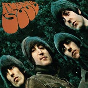 BEATLES-Blechschild ALBUM RUBBER SOUL