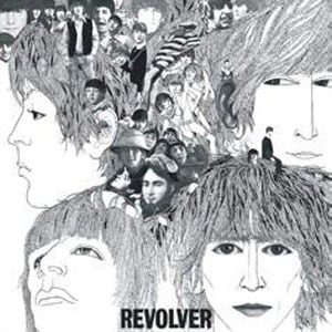 BEATLES-Blechschild ALBUM COVER REVOLVER