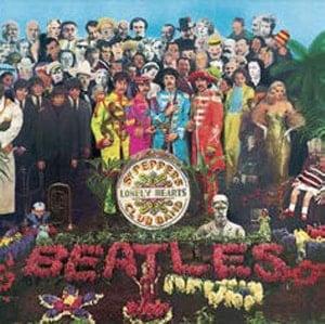 BEATLES-Blechschild ALBUM COVER SGT. PEPPER