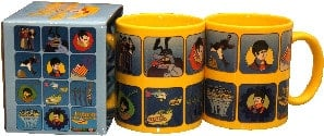 BEATLES-Kaffeebecher YELLOW SUBMARINE MOTIVES ON YELLOW MUG