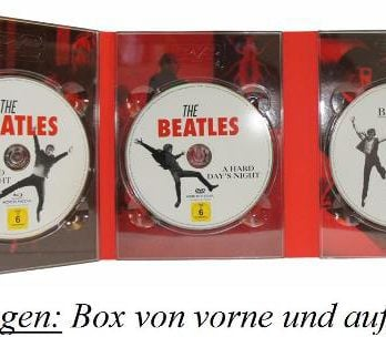 BEATLES: Box (3 DVDs, 1 Blu-ray) A HARD DAY'S NIGHT SPECIAL EDIT