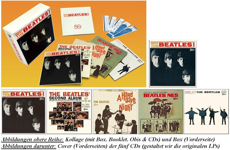 BEATLES: 5er CD-Box MEET THE BEATLES (THE JAPAN BOX)