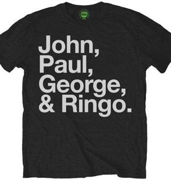 B T-Shirt LETTERING JOHN PAUL GEORGE & RINGO