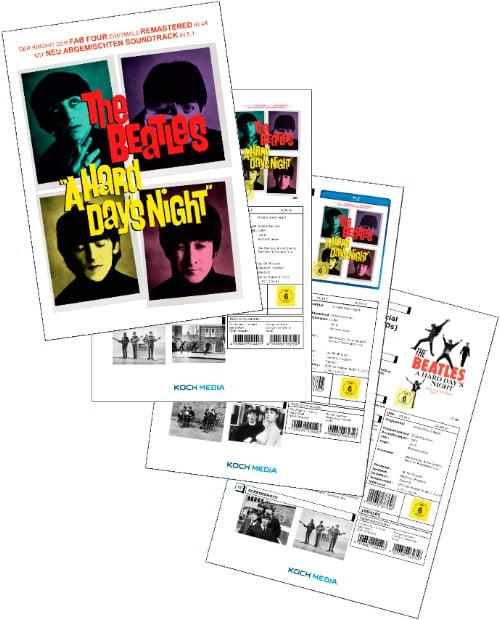 BEATLES-Promofolder A HARD DAY'S NIGHT 2014
