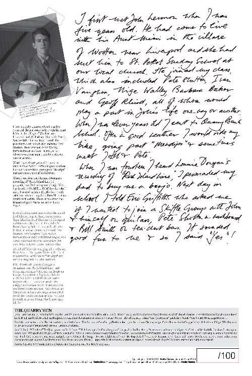 ROD DAVIS: special print ROD DAVIS BECOMES A MEMBER OF JOHN LENN