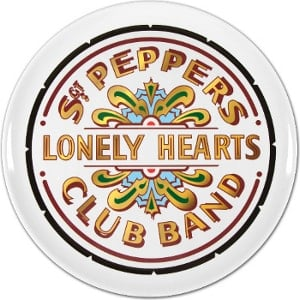 BEATLES-Tablett DRUM LOGO SGT. PEPPER