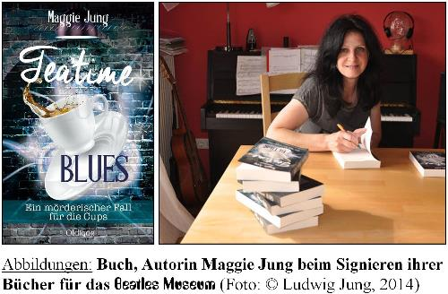 deutsches Buch TEATIME BLUES mit BEATLES-Thema