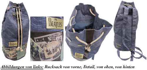 großer BEATLES-Rucksack THE BEATLES DUFFLE BAG