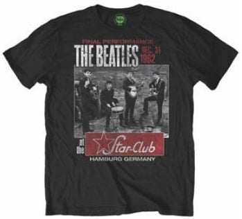 T-Shirt THE BEATLES STAR CLUB FINAL PERFORMANCE ON BLACK