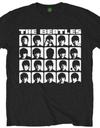 BEATLES-T-Shirt A HARD DAYS NIGHT ALBUM COVER ON BLACK