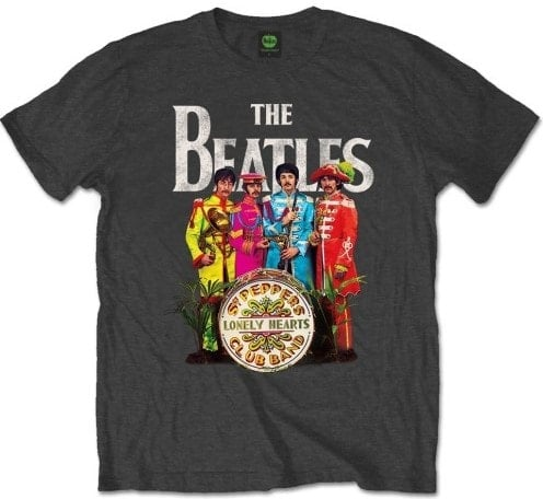 T-Shirt SGT. PEPPER BEATLES WITH SGT. PEPPER DRUM ON GREY
