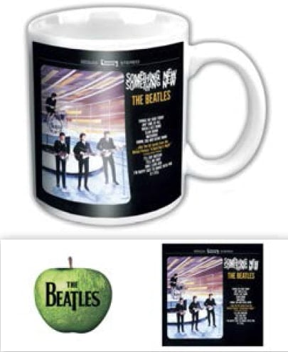 BEATLES-Kaffeebecher SOMETHIGS NEW US ALBUM COVER