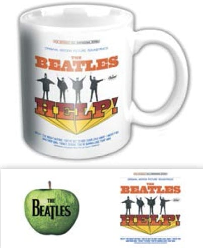 BEATLES-Kaffeebecher HELP! ORIGINAL SOUNDTRACK ALBUM US COVER