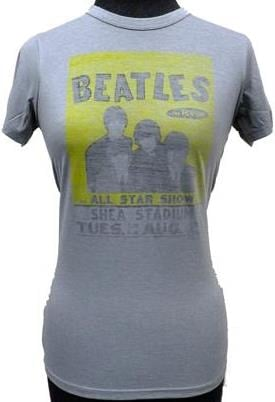 BEATLES Girlie-Shirt  SHEA CONCERT  AUGUST 23RD 1966 GREY