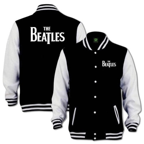 BEATLES-Jacke LETTERING THE BEATLES WHITE ON BLACK