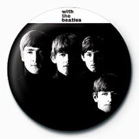 BEATLES-Button WITH THE BEATLES ALBUM COVER