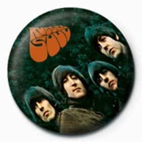 BEATLES-Button RUBBER SOUL ALBUM COVER