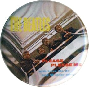 BEATLES-Button PLEASE PLEASE ME ALBUM COVER