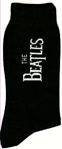 Socken WHITE LETTERING THE BEATLES VERTICAL ON BLACK