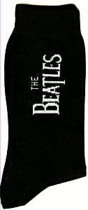 Socken WHITE LETTERING THE BEATLES VERTICAL ON BLACK