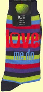 Socken LETTERING LOVE ME DO RED & BLUE ON RAINBOW