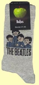 Socken CARTOON BEATLES GROUP ON GREY