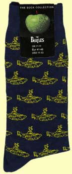 Socken  MANY LITTLE YELLOW SUBMARINES ON DARK BLUE