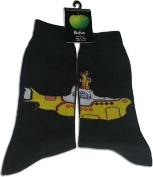 Socken YELLOW SUBMARINE U-BOAT ON BLACK