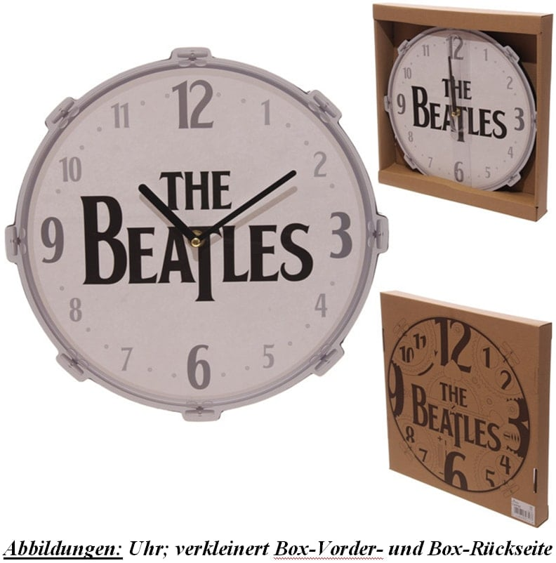 BEATLES-Wanduhr THE BEATLES BASS DRUM