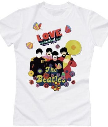 BEATLES-Girlie-Shirt YELLOW SUBMARINE'S ALL YOU NEED IS LOVE