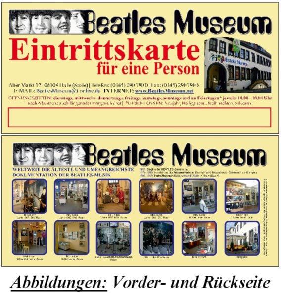 2 Geschenktickets für Beatles Museum