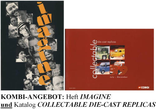 Heft IMAGINE (über Liverpool) & CORGI-Katalog