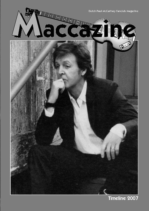 Magazin MACCAZINE - PAUL McCARTNEY TIMELINE 2007