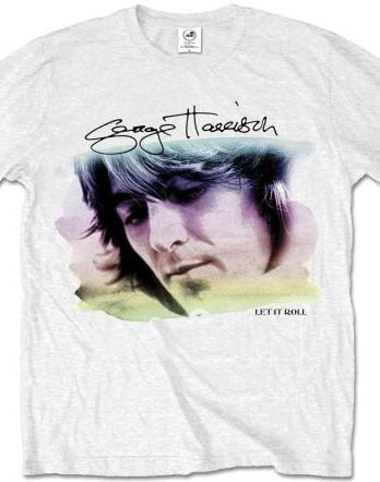 GEORGE HARRISON-T-Shirt LET IT ROLL ALBUM COVER ON WHITE