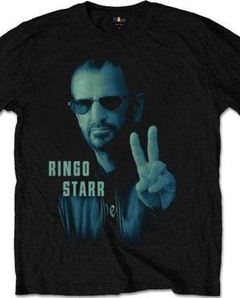 RINGO STARR-T-Shirt PORTAIT RINGO STARR ON BLACK