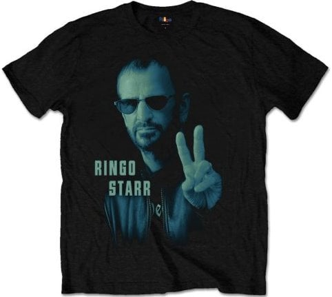 RINGO STARR-T-Shirt PORTAIT RINGO STARR ON BLACK