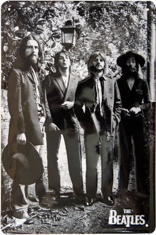 BEATLES-Blechschild THE BEATLES 22ND AUGUST 1969 LAST PHOTO SESS